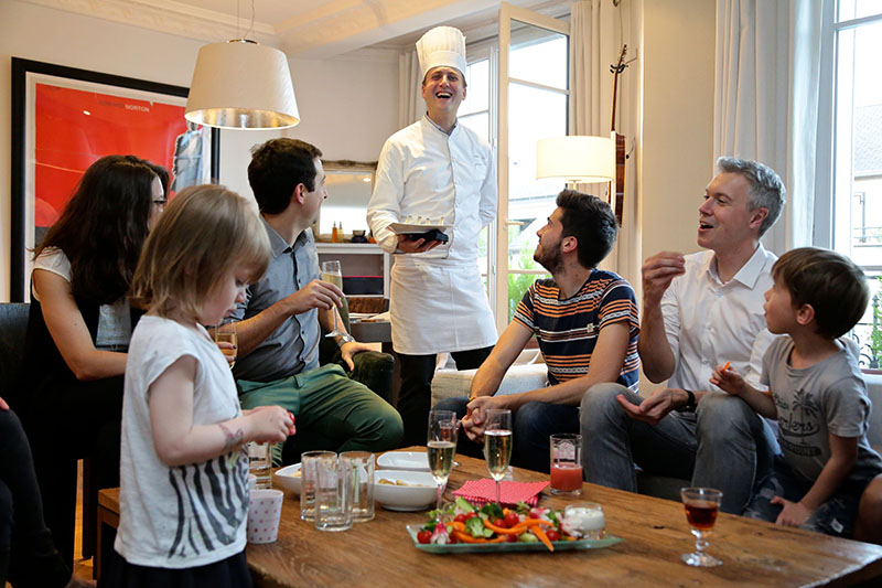 Professional chefs in your home, © La Belle Assiette