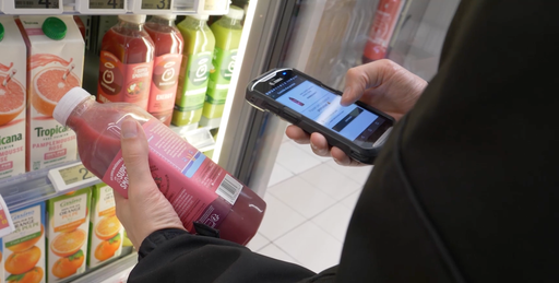Mobile app being used to scan a product