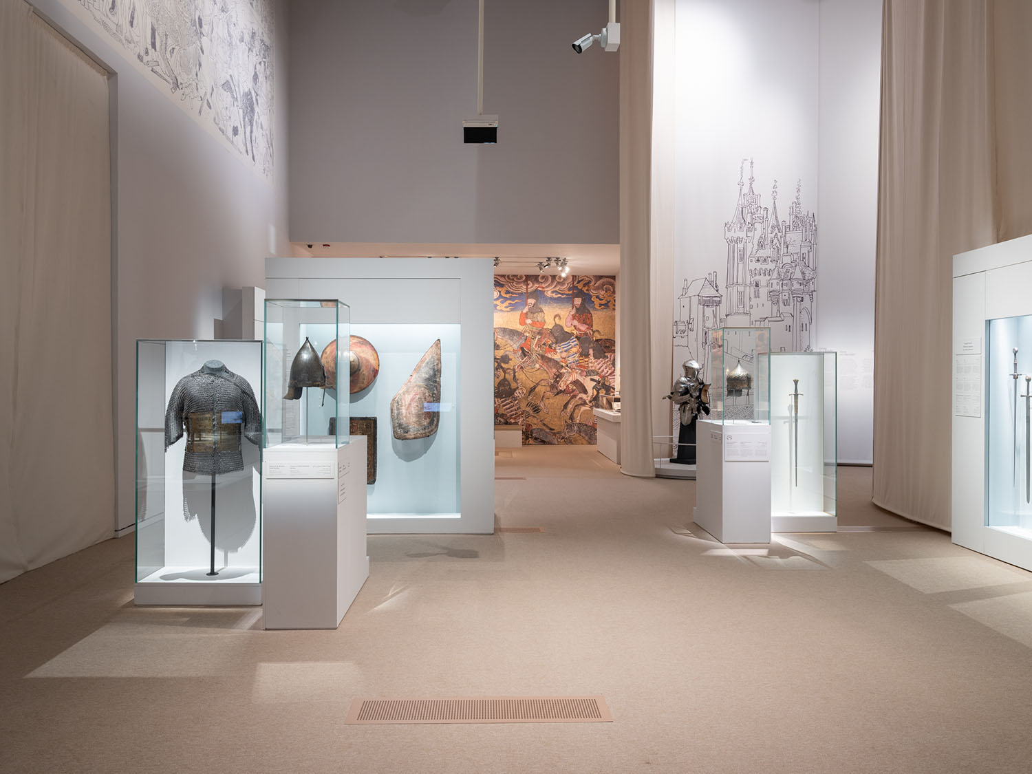 """Exhibition """"Furusiyya: The Art of Chivalry between East and West"""" organized by Louvre Abu Dhabi, Musée de Cluny and France Muséums in 2020"""