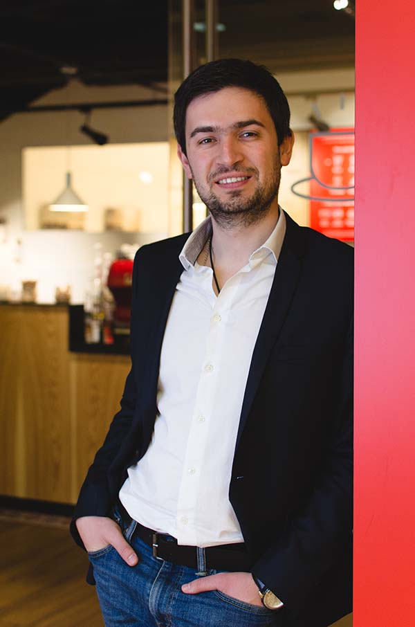 Photo of Leonid Goncharov, the founder and CEO of Anticafé, a network of coworking café spaces