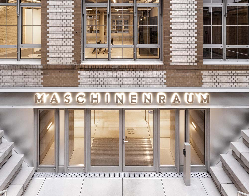 Photo of the entrance to the Maschinenraum building