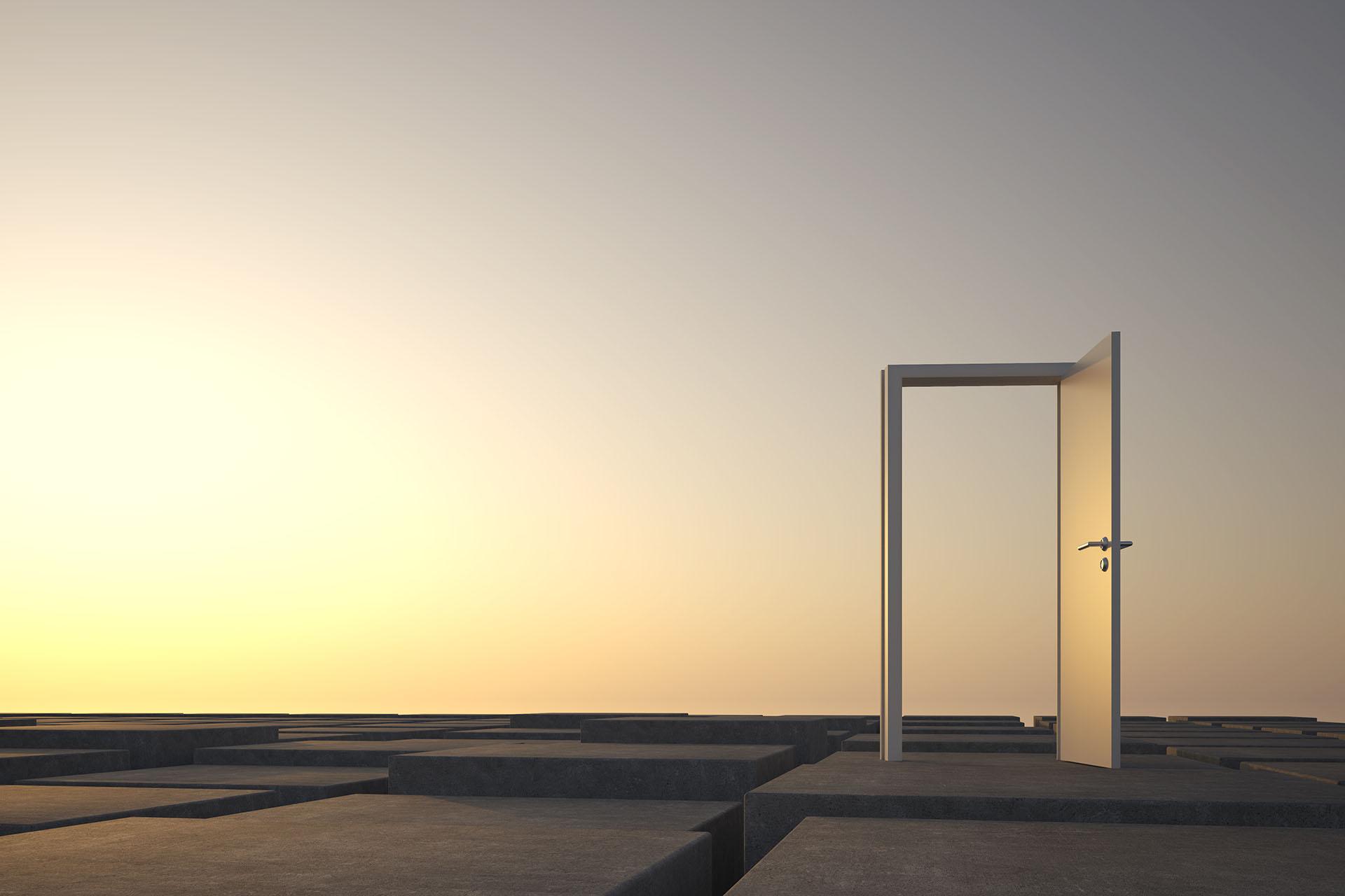 An open door on the horizon
